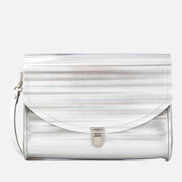 The Cambridge Satchel Company Women's Large Push Lock - Silver Borderline