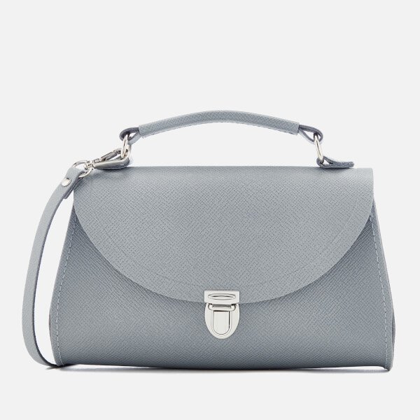 The Cambridge Satchel Company Women's Mini Poppy Bag - French Grey Saffiano