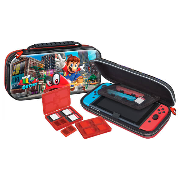 nintendo switch deluxe travel case super mario odyssey. Black Bedroom Furniture Sets. Home Design Ideas
