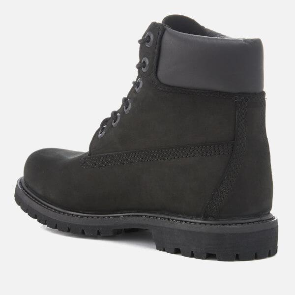 Timberland Women s 6 Inch Nubuck Premium Boots - Black Womens ... fa32e7e42