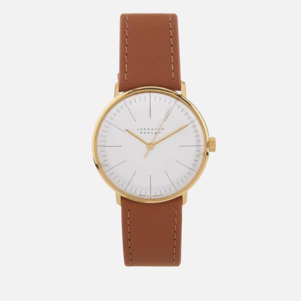 Junghans Men's Max Bill Hand Winding Watch - White/Tan