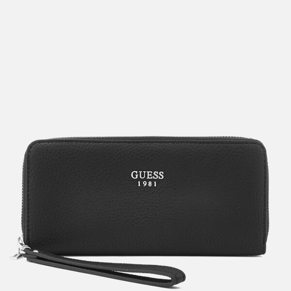 Guess Women's Cate Large Zip Around Purse - Black