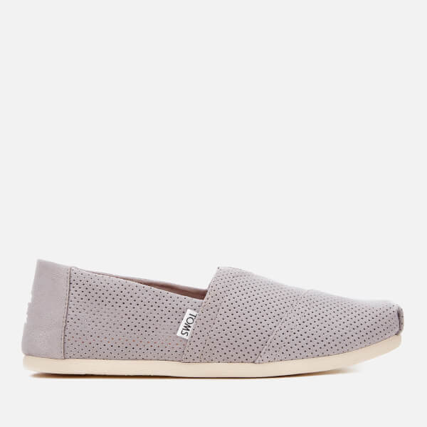 TOMS Men's Alpargata Perforated Slip-On Pumps - Drizzle Grey