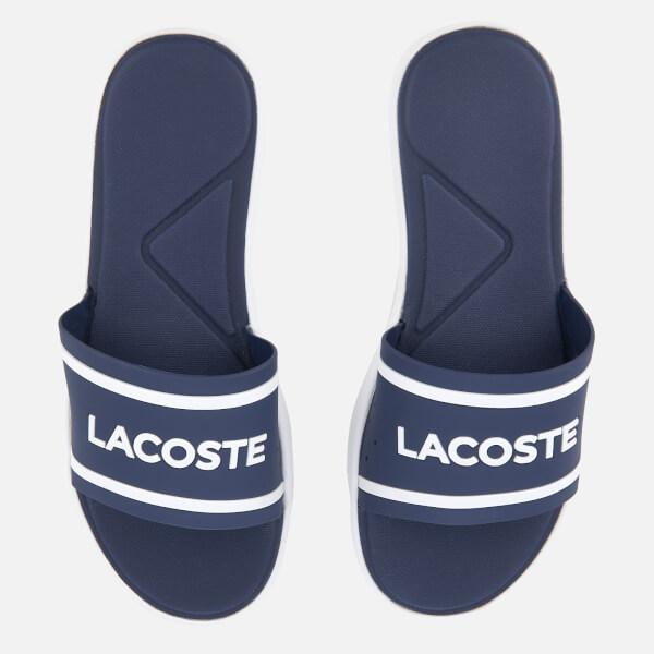 Lacoste Women's L.30 118 1 Slide Sandals - Dark Purple/White