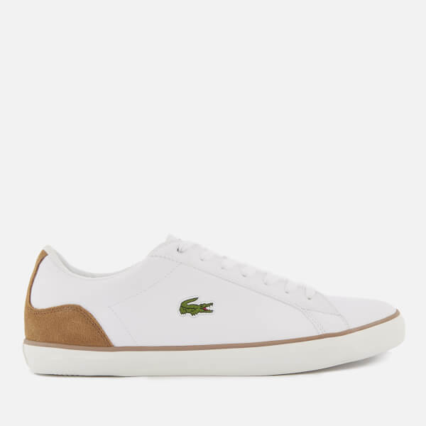 Lacoste Men's Lerond 118 1 Leather Trainers - White/Light Brown