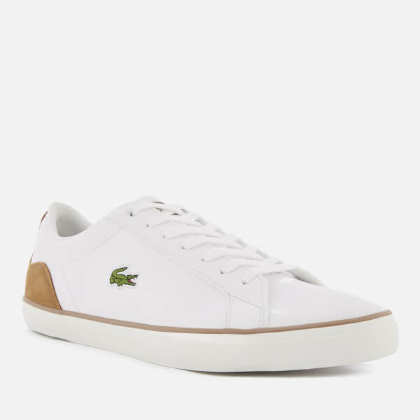 6f2d4e221 Lacoste Men s Lerond 118 1 Leather Trainers - White Light Brown  Image 2