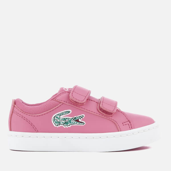 Lacoste Toddlers' Straightset Lace 118 1 Trainers - Pink/White
