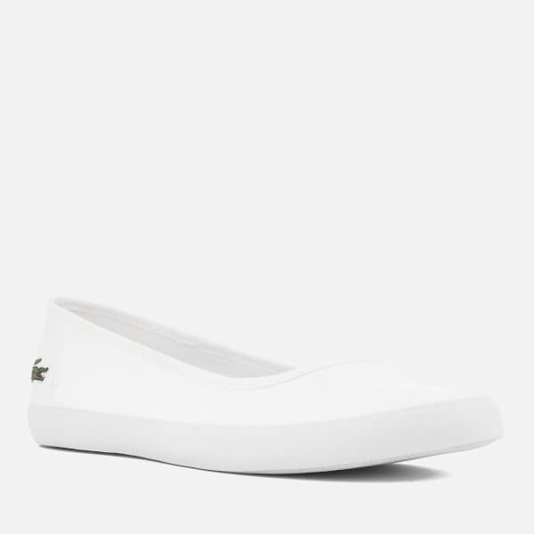 41a1f9e83 Lacoste Women s Marthe BL 1 Canvas Ballet Pumps - White Womens ...