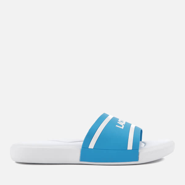 291c30341b66fe Lacoste Kids  L.30 118 2 Slide Sandals - Blue White Junior Clothing ...