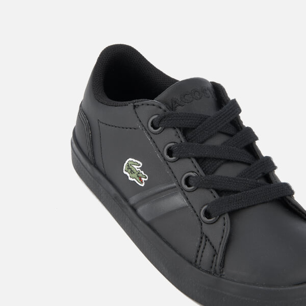 8c435a9d24fa9b Lacoste Toddlers  Lerond 218 2 Trainers - Black  Image 6