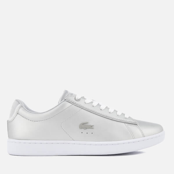 Lacoste Women's Carnaby Evo 118 1 Leather Trainers - Light Grey/White