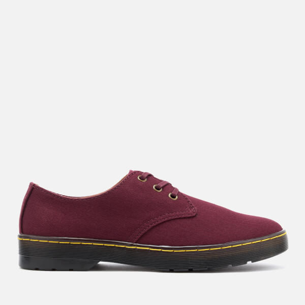 Dr. Martens Men's Delray Overdyed Twill Canvas Lace Shoes - Oxblood - UK 6 2cnlZ9