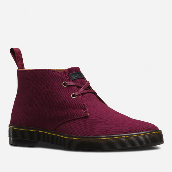 Dr. Martens Men's Mayport Overdyed Twill Canvas Lace Low Boots - Oxblood - UK 6 UTlgK