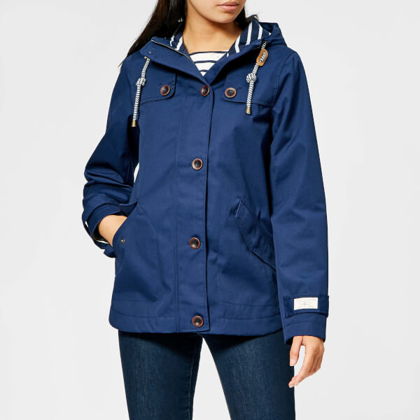 021a67060cf Joules Women s Coast Waterproof Hooded Jacket - French Navy Womens ...