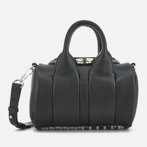 Alexander Wang Women's Mini Rockie Studded Pebble Leather Bag - Black
