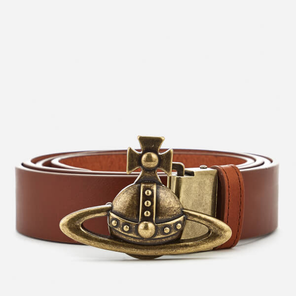 Vivienne Westwood Men's Large Orb Logo Belt - Tan