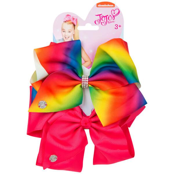 JoJo Siwa Bow Set - Rainbow/Magenta
