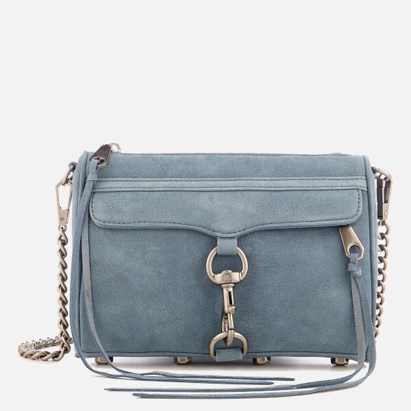 Rebecca Minkoff Women's Mini Mac Cross Body Bag - Dusty Blue