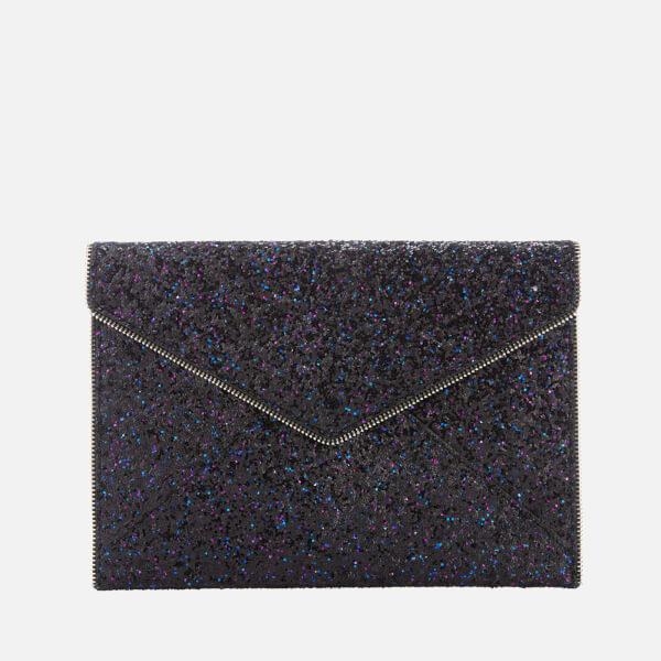 Rebecca Minkoff Women's Glitter Leo Clutch Bag - Purple Multi