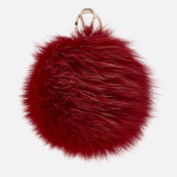 Furla Women's Bubble Pom Pom Keyring - Ruby
