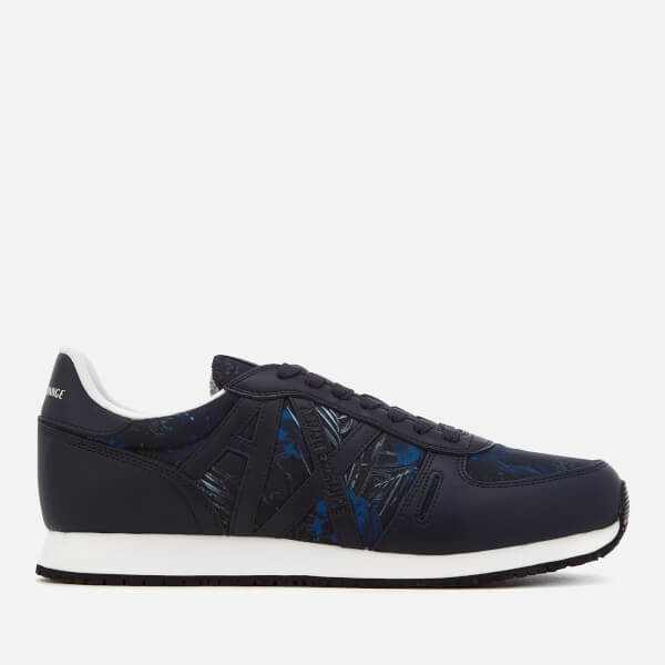 Armani Exchange Men's Low Top Trainers - Exotic Blue