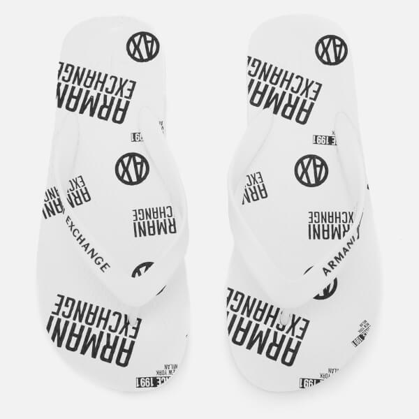Armani Exchange Men's AX Flip Flops - Bianco