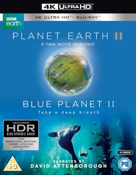 Planet Earth II & Blue Planet II Boxset - 4K Ultra HD