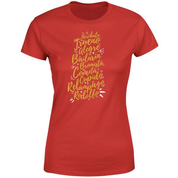 International Reindeer Women's T-Shirt - Red