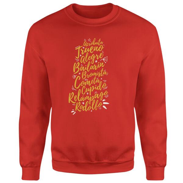 International Reindeer Sweatshirt - Red