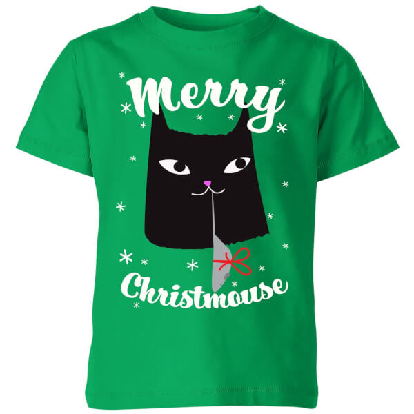 Merry Christmouse Kids' T-Shirt - Kelly Green