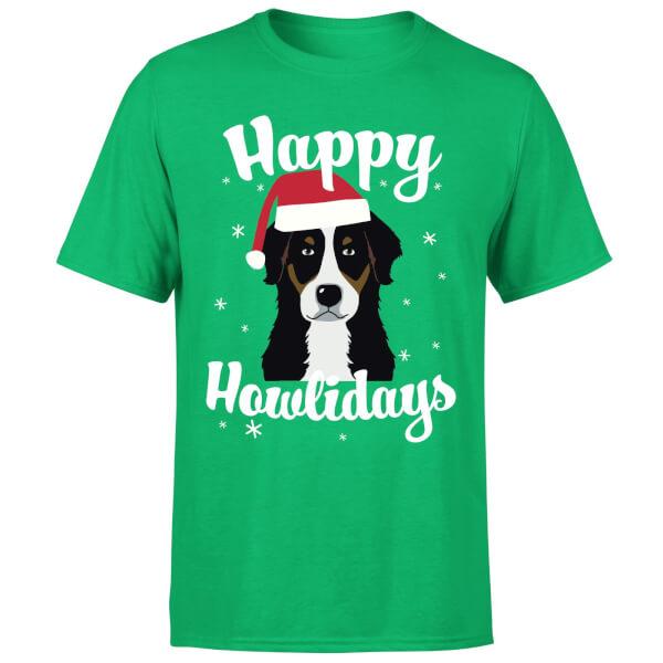 Happy Howlidays T-Shirt - Kelly Green