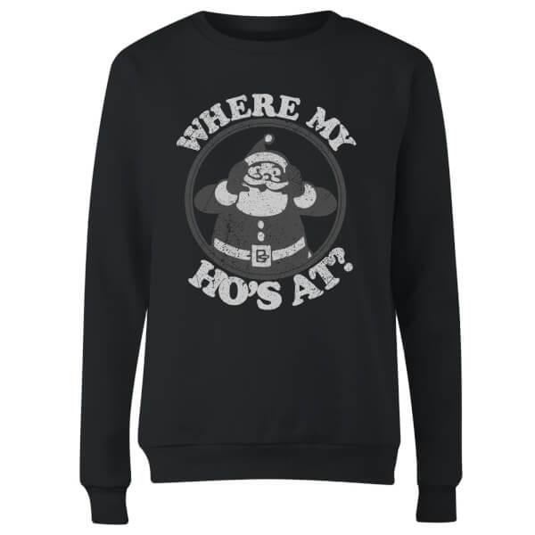Where My Ho's At Black Women's Sweatshirt - Black