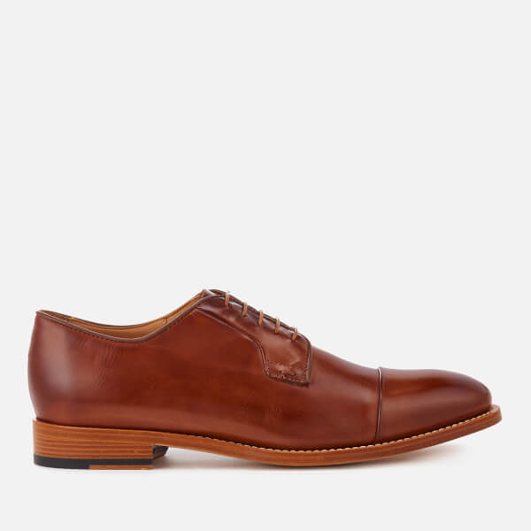 Paul Smith Men's Ernest Leather Toe Cap Derby Shoes - Tan