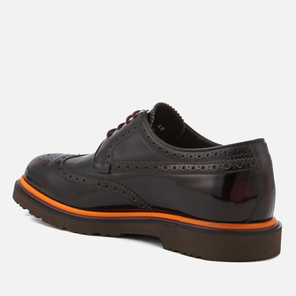 Paul Smith Men's Crispen High Shine Leather Stack Sole Brogues - - UK 10