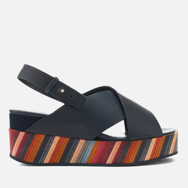 Paul Smith Women's Noe Swirl Flatform Sandals - Dark Navy