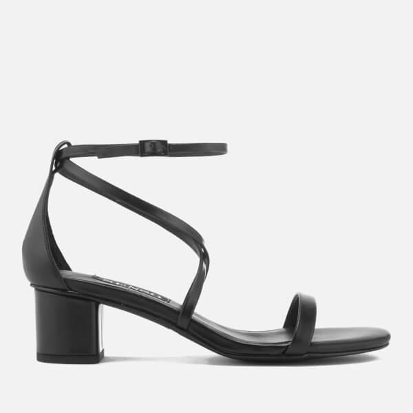Senso Women's Jenni Satin Blocked Heeled Sandals - Ebony