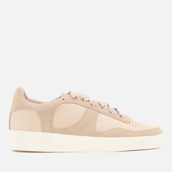 Senso Women's Amelie Leather/Suede Low Top Trainers - Peach