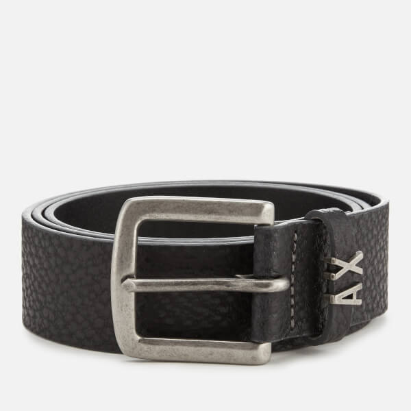Armani Exchange Men's Leather Belt - Nero