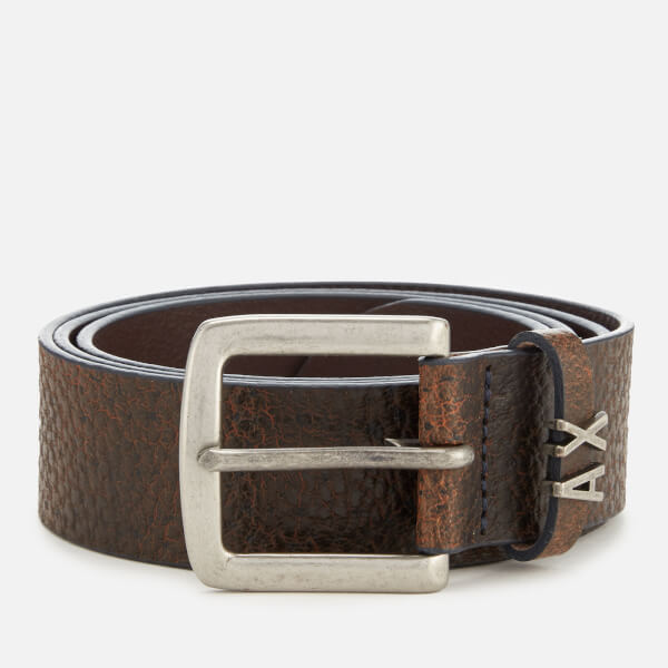 Armani Exchange Men's Leather Belt - Cuoio