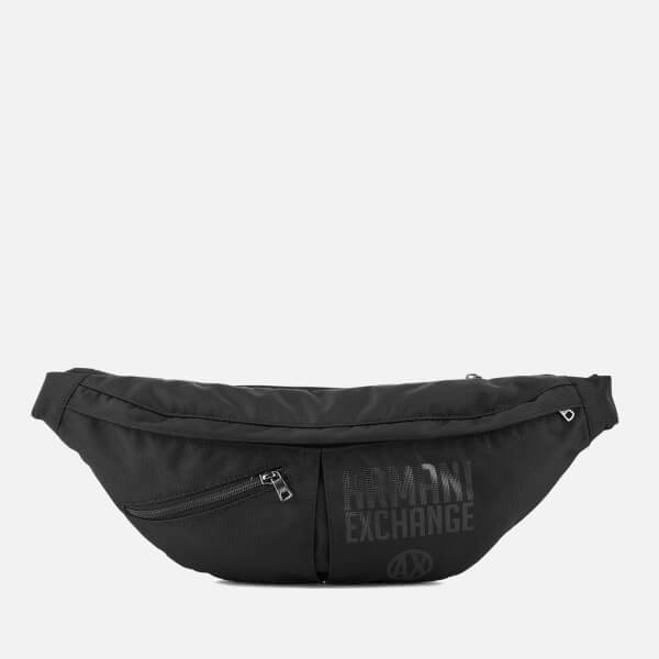 8335891f2dbf Armani Exchange Men s Nylon Sling Bag - Black Black  Image 1