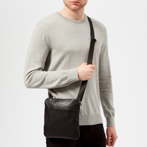 9f1848e3aa8c Armani Exchange Men s Small Cross Body Bag - Nero  Image 3