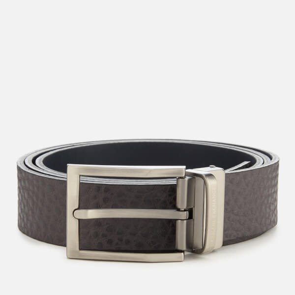 Armani Exchange Men's Branded Belt - Grey/Navy