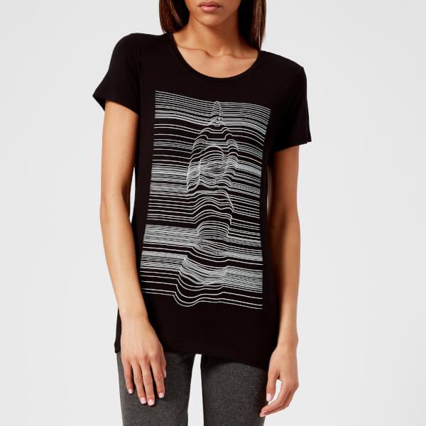 M-Life Women's Yogi Strata Short Sleeve T-Shirt - Black