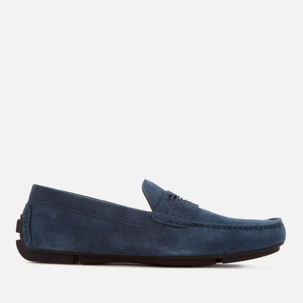 Armani Men's Suede Driver Shoes - Midnight - UK 11 vSKJqPct