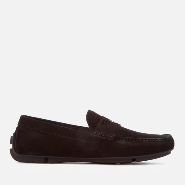 Armani Men's Suede Driver Shoes - Midnight - UK 11 i0TQPqj