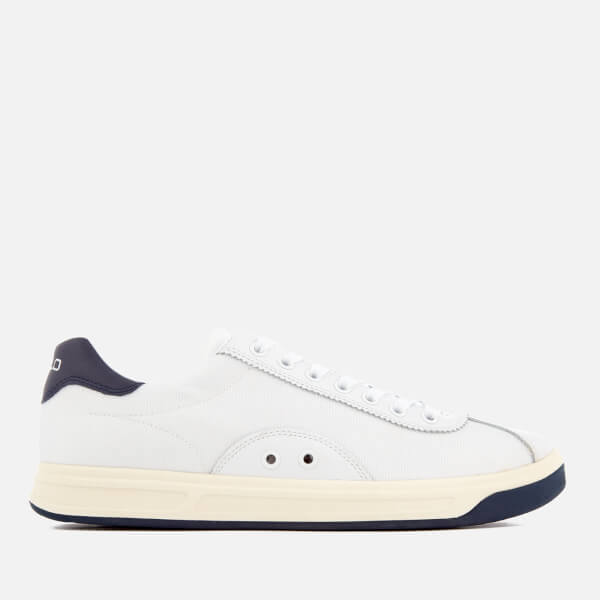 Polo Ralph Lauren Men's Court 100 Leather/Mesh Trainers - White/Newport Navy