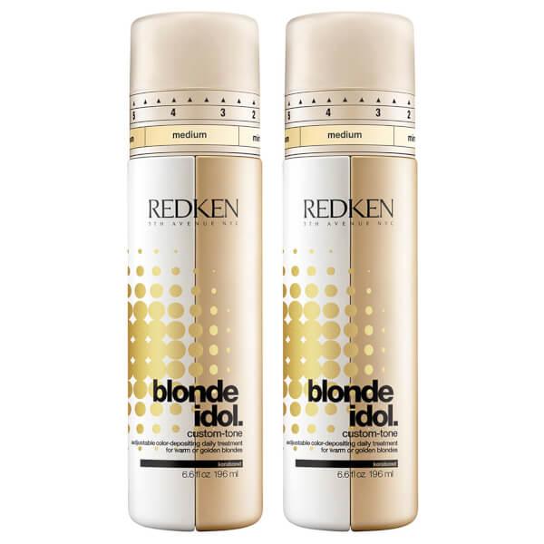 Redken Blonde Idol Custom-Tone Gold Conditioner Duo (2 x 196ml)