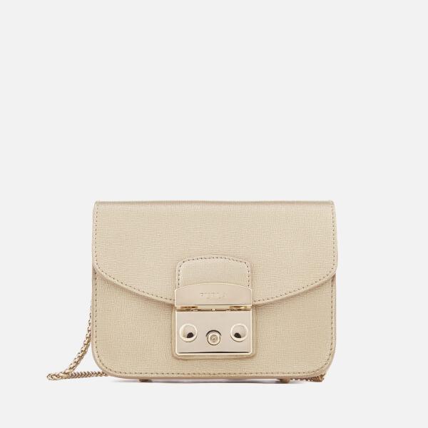 Furla Women's Metropolis Mini Cross Body Bag - Gold