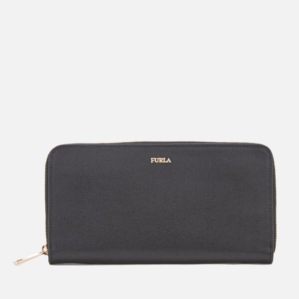 Furla Women's Babylon Extra Large Zip Around Wallet - Black