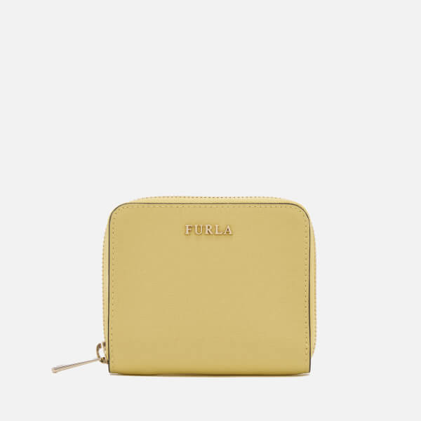 Furla Women's Babylon Small Zip Around Wallet - Yellow